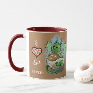 I LOVE hot Coco Baby Dragon Christmas Mug