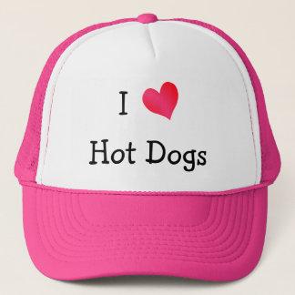 I Love Hot Dogs Cap