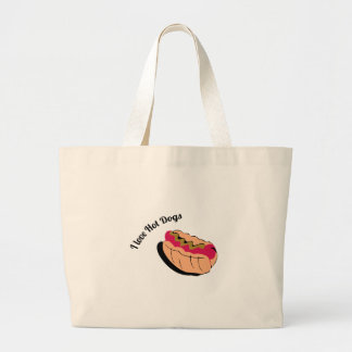 I Love Hot Dogs Tote Bag