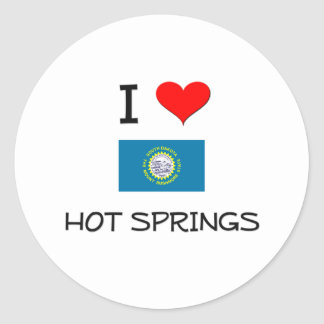 I Love Hot Springs South Dakota Stickers