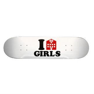 I Love Hotel Girls Custom Skateboard