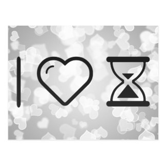 I Love Hourglass Postcard