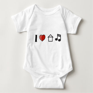 I Love House Music Baby Bodysuit