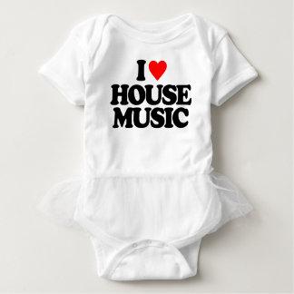 I LOVE HOUSE MUSIC BABY BODYSUIT