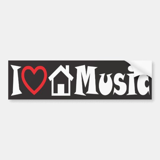 I Love House Music Bumper Sticker