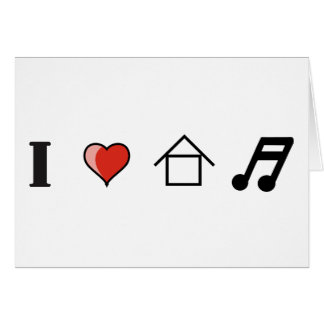 I Love House Music Club Clubbing Card