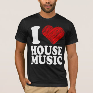 I Love House Music Heart Art Cool Remix T Shirt