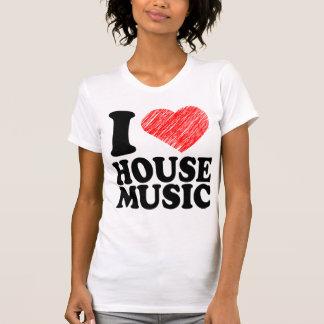 I Love House Music Heart Art Cool Tee Shirts