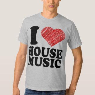 I Love House Music Heart Art Cool Tee T Shirt