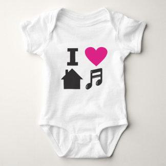 I love house music infant creeper