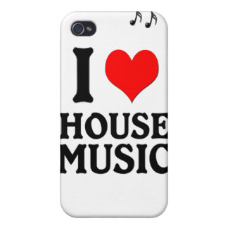 I LOVE HOUSE MUSIC iPhone 4 CASES