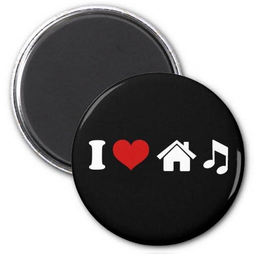 I Love House Music Refrigerator Magnets