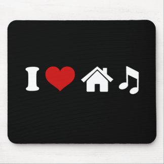 I Love House Music Mousepad Mousepads