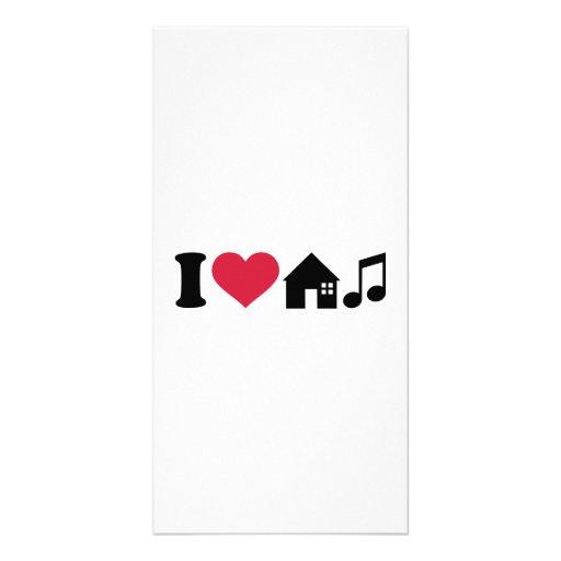 I love House music Photo Greeting Card