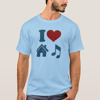 I Love House Music T-Shirt | Dance Ibiza DJ Gift