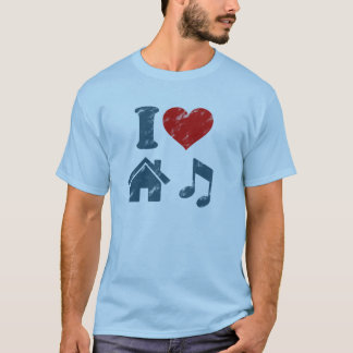I Love House Music Vintage T-Shirt | Music Gifts