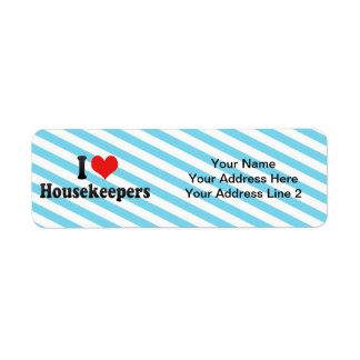 I Love Housekeepers Return Address Label