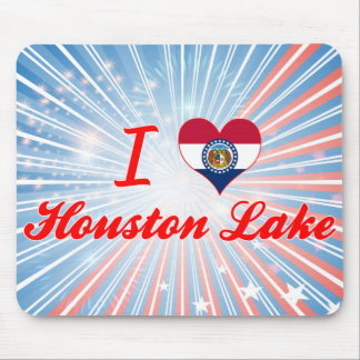 I Love Houston Lake, Missouri Mousepads