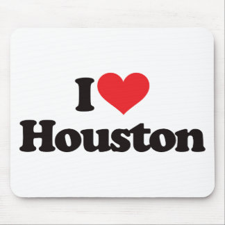 I Love Houston Mouse Pads