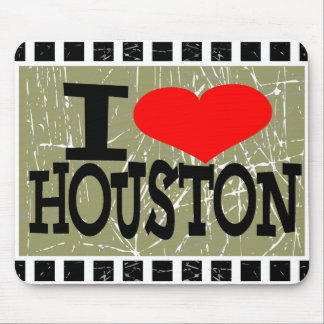 I love Houston  - Mouse pad
