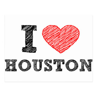 I Love Houston Postcard