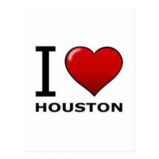 I LOVE HOUSTON, TX - TEXAS POSTCARD