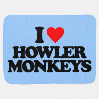 I LOVE HOWLER MONKEYS SWADDLE BLANKETS
