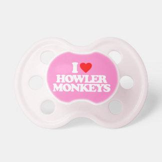 I LOVE HOWLER MONKEYS BooginHead PACIFIER