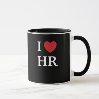 I Love HR I Heart HR 2-sided Human Resources Mug