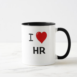 I Love HR  - I Heart HR Humor Mug