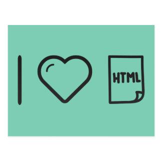I Love Htmls Postcard