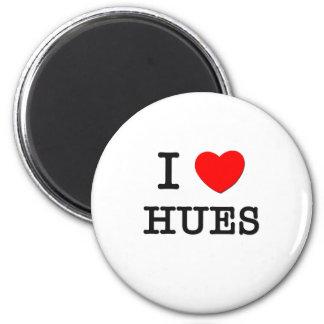 I Love Hues 6 Cm Round Magnet
