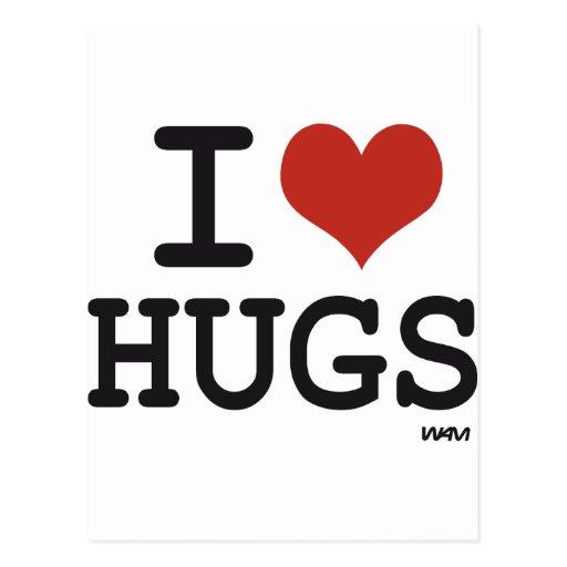 I love Hugs Post Cards