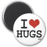 I love hugs refrigerator magnet