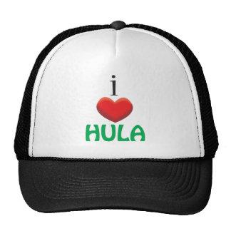 I LOVE HULA TRUCKER HAT