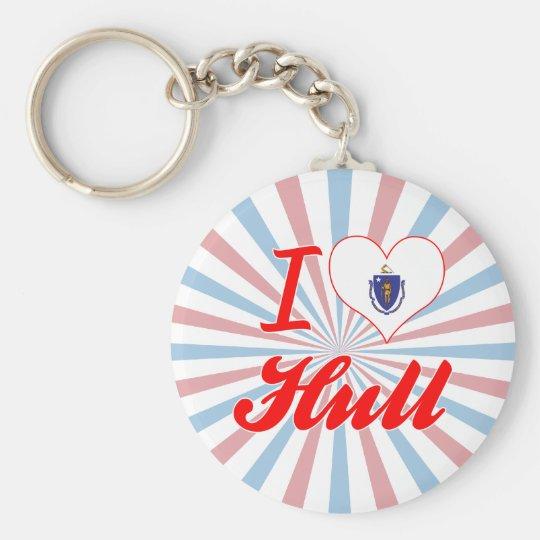 I Love Hull, Massachusetts Basic Round Button Key Ring
