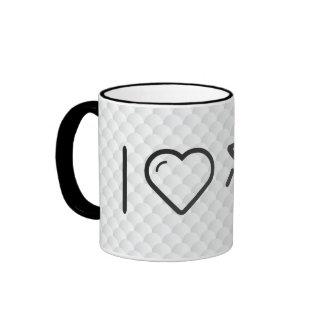 I Love Human Eyes Ringer Mug