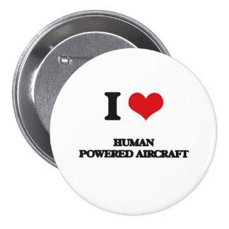 I Love Human Powered Aircraft Pin