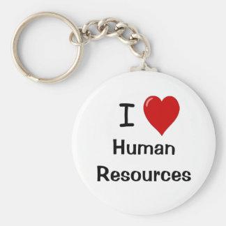 I Love Human Resources Key Chain