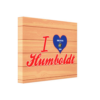 I Love Humboldt, Wisconsin Gallery Wrapped Canvas