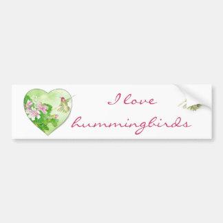 I love Hummingbirds, Bird Collection Bumper Sticker