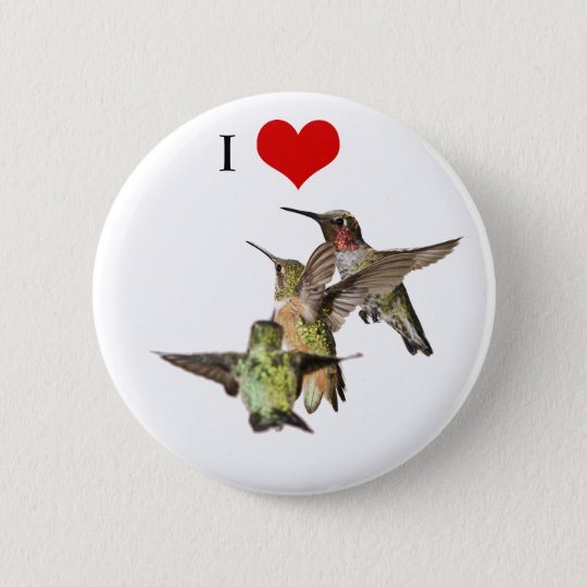 I Love Hummingbirds button