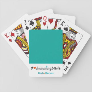 I Love Hummingbirds Playing Cards