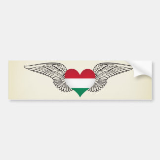 I Love Hungary -wings Bumper Sticker