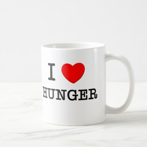 I Love Hunger Coffee Mugs