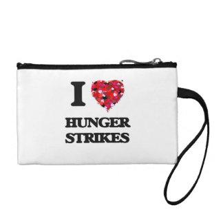 I Love Hunger Strikes Coin Purses
