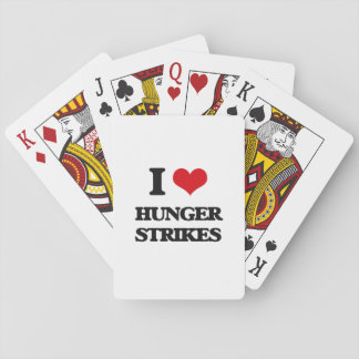 I love Hunger Strikes Playing Cards
