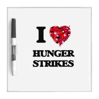 I Love Hunger Strikes Dry-Erase Whiteboards