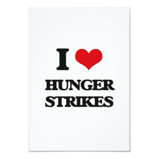 "I love Hunger Strikes 3.5"" X 5"" Invitation Card"
