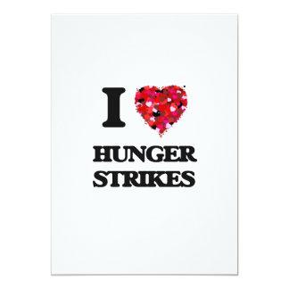 I Love Hunger Strikes 13 Cm X 18 Cm Invitation Card